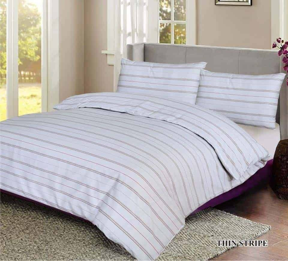 thin stripes quilt cover set