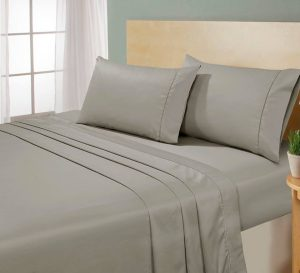 DARK BEIGE WITH DARK BEIGE MARROW STITCH FLAT SHEET SET