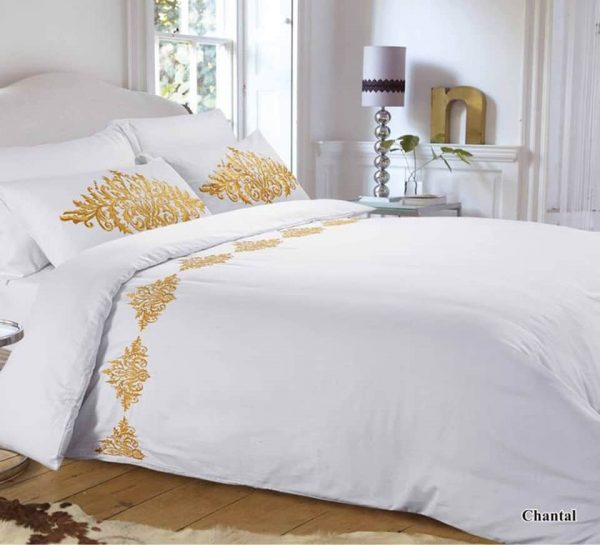 CHANTELL EMBROIDERED QUILT COVER SET