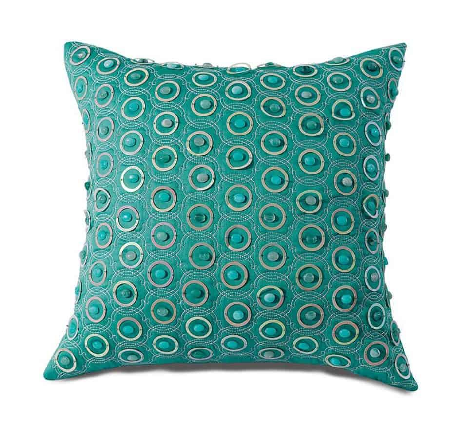 fancy green cushion cover