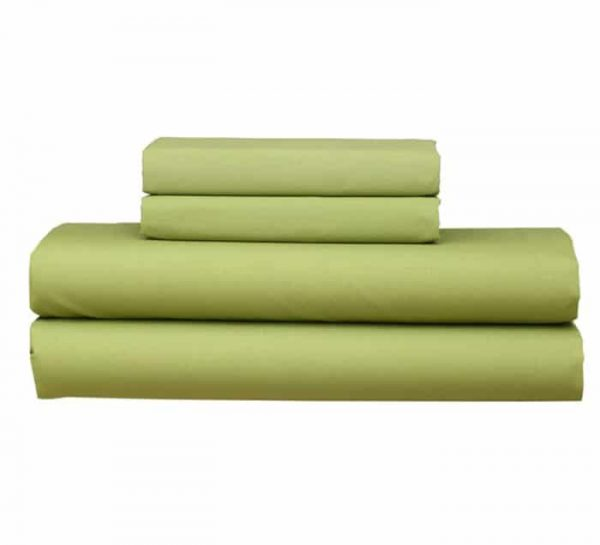 OLIVE GREEN FITTED SHEET PILLOW CASE