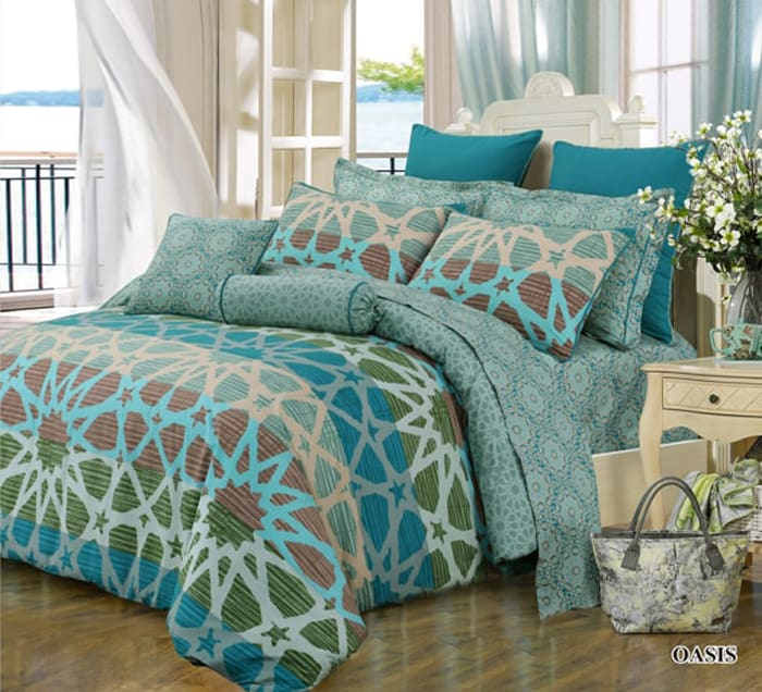 Green Oasis Quilt Cover Set