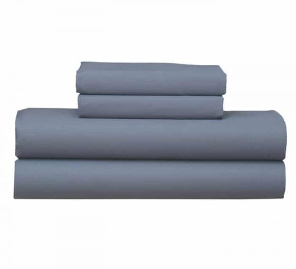 STEEL GREY FITTED SHEET PILLOW CASE