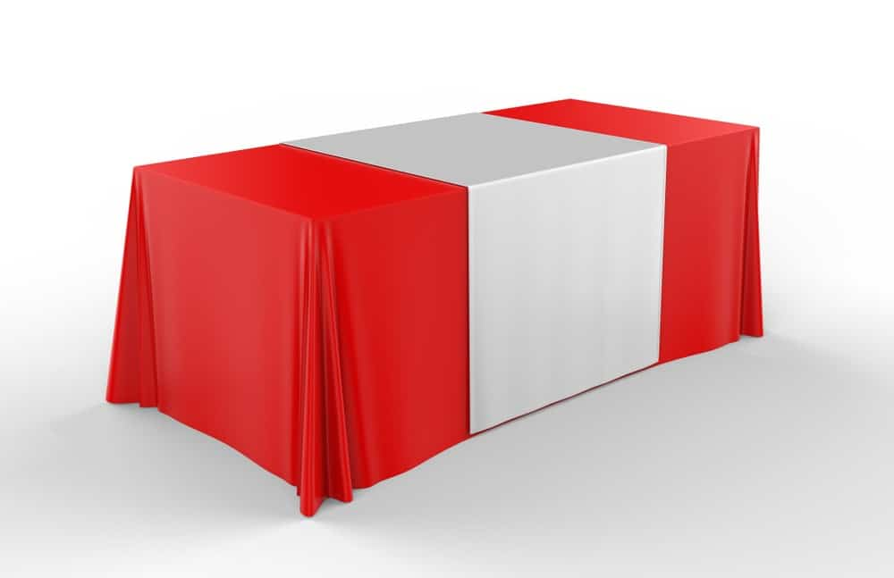 table runner on tablecloth